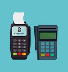 voucher machine electronic commerce vector image