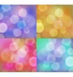 Abstract background with bokeh circles set vector image vector image