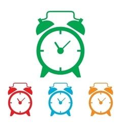 Alarm clock sign vector image vector image