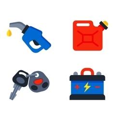 Auto transport motorist icons vector image