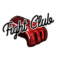 color vintage fight club emblem vector image vector image