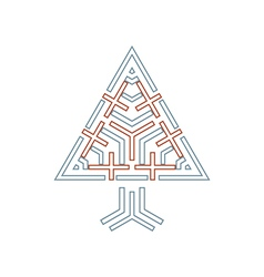 tree symbol with crosses vector image vector image