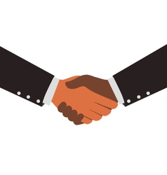 Two Diversity Businessmen Shaking Hands Design vector image