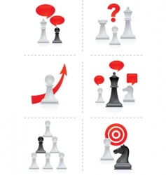 chess moves vector image vector image