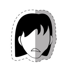 female faceless avatar image vector image vector image