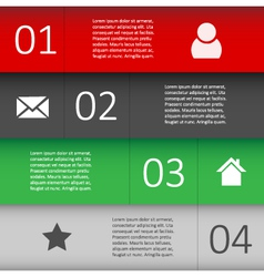 Modern Design template for Infographic website vector image vector image