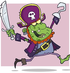 Pirate Zombie Cartoon Character vector image