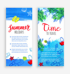 summer banner templates vector image