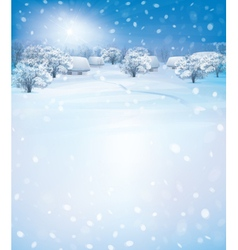 winter houses day vector image