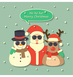 Christmas Santa Claus background vector image vector image