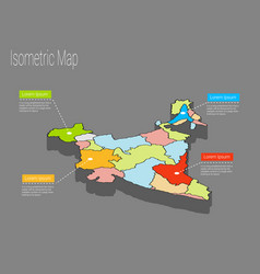 india map infographics vector image