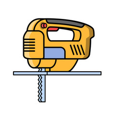jigsaw construction electric tool flat style icon vector image