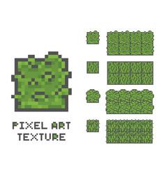 pixel art 8 bit game sprite green vector image vector image