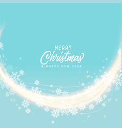 soft blue snoflakes merry christmas background vector image