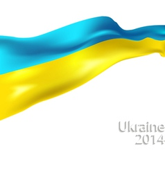 Ukrainian flag vector image