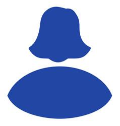 woman flat icon vector image vector image