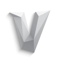 3d letter V on white vector image