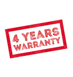 4 years warranty rubber stamp vector
