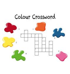 A crossword colour game template vector