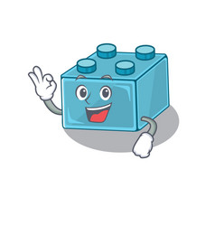 A funny picture lego brick toys making an okay vector