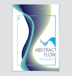 abstract flow fluid colorful blend art background vector image