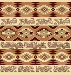 Abstract geometric seamless pattern aztec vector