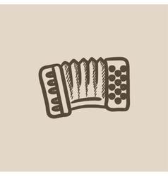 Accordion sketch icon vector