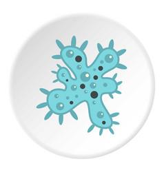 Bacteria icon circle vector