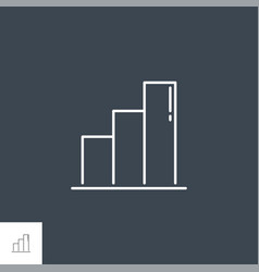bar chart related line icon vector image