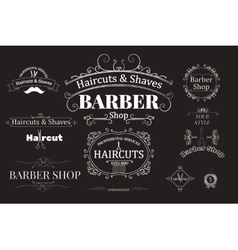 barber shop logotypes vector image