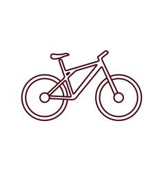 bike flat icon vector image