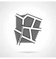 Black line icon for direction map vector