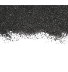 Black sand on white background vector