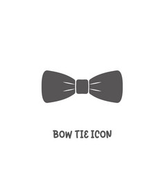 bow tie icon simple flat style vector image