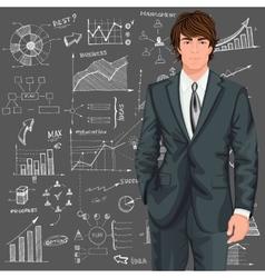 Business man sketch background vector