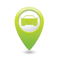 car GREEN map pointer vector image