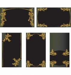 card set vector image