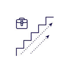 career growth icon outline style stairs vector image