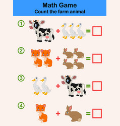 cartoon educational mathematical game vector image