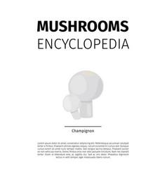 Champignon mushroom vector