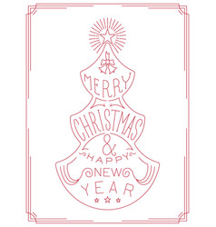 christmas and new year tree lettering graphic vector image