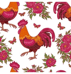 cock flower pattern vector image
