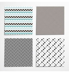 Collections of seamless patterns vector image