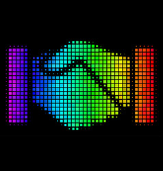 colored pixel handshake icon vector image