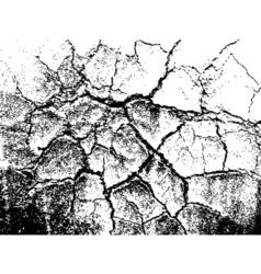 Cracked grunge texture vector