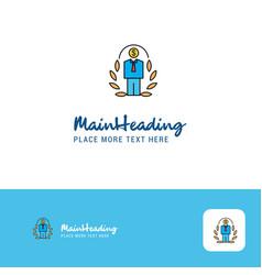 creative employee logo design flat color logo vector image