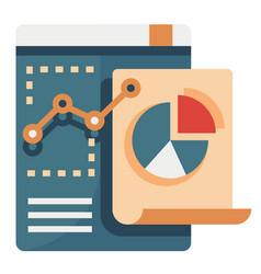 data analysis flat vector image