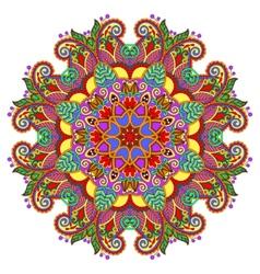 Decorative spiritual indian symbol lotus flower vector