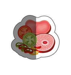 delicious meat beef menu vector image