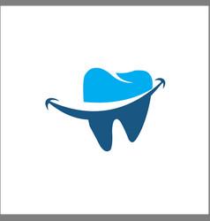 dental logo template blue vector image